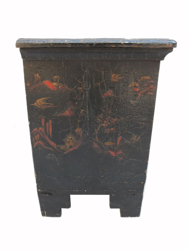 19th C Chinese painted chest of drawers - 6