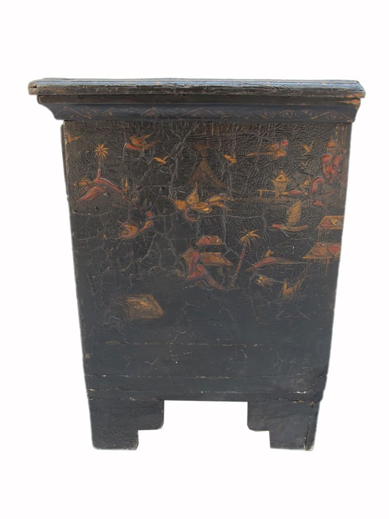 19th C Chinese painted chest of drawers - 8