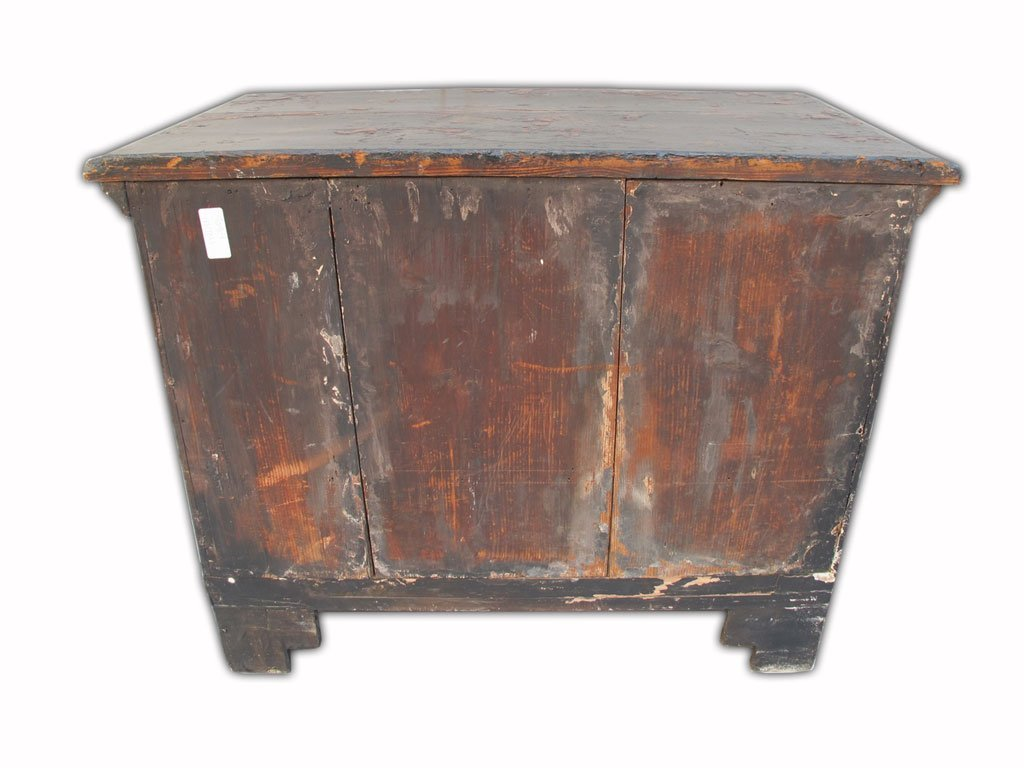19th C Chinese painted chest of drawers - 9