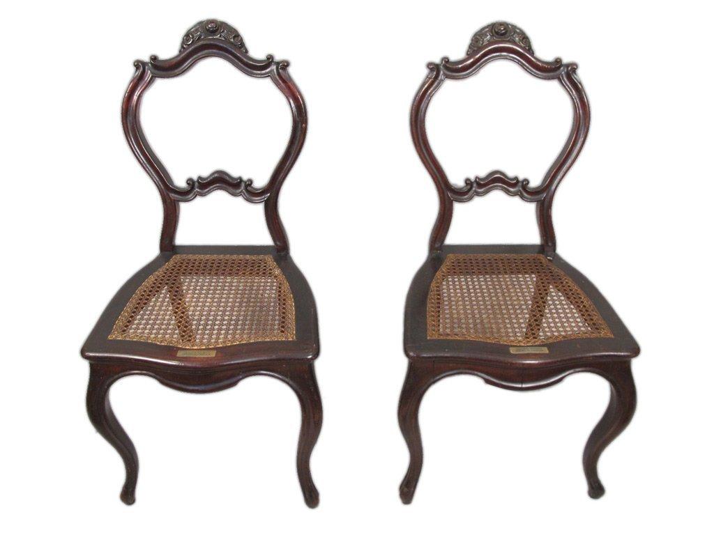 Mariquita Sanchez de Thompson antique pair of chairs
