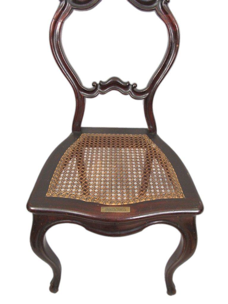 Mariquita Sanchez de Thompson antique pair of chairs - 4