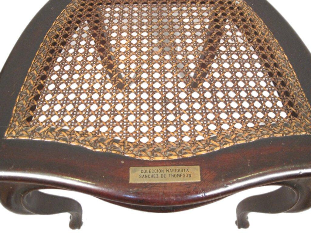 Mariquita Sanchez de Thompson antique pair of chairs - 5