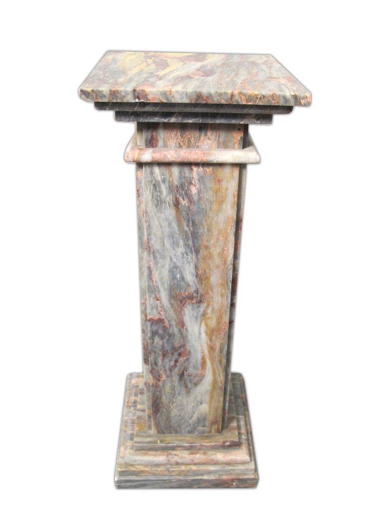 Antique Italian Breccia Violetta marble pedestal