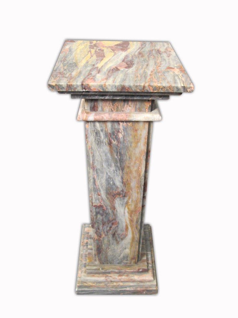 Antique Italian Breccia Violetta marble pedestal - 2