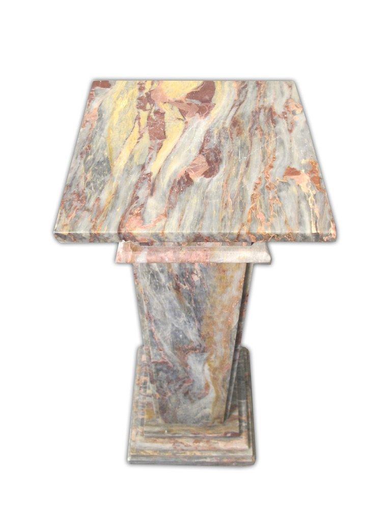 Antique Italian Breccia Violetta marble pedestal - 3