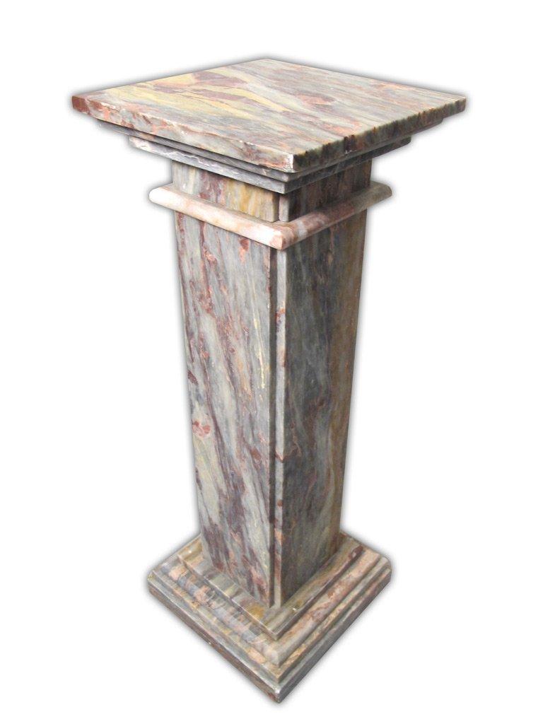 Antique Italian Breccia Violetta marble pedestal - 4