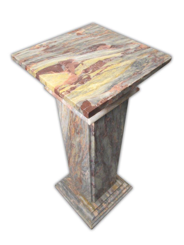 Antique Italian Breccia Violetta marble pedestal - 5