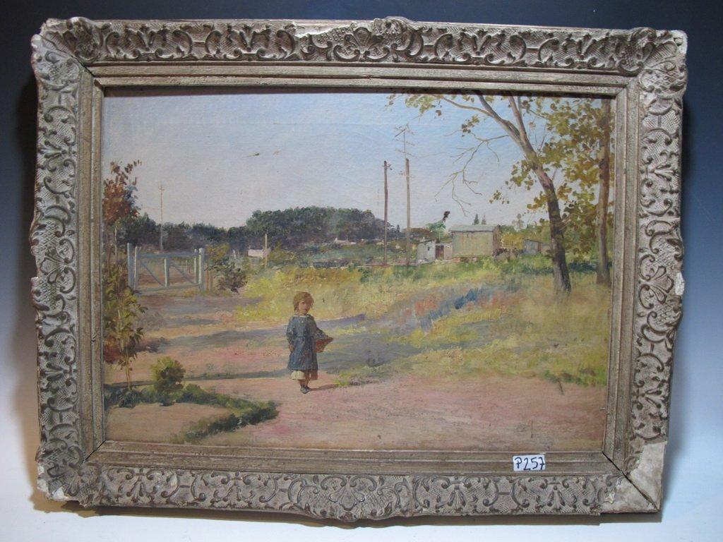 19th C. Italian oil on canvas painting