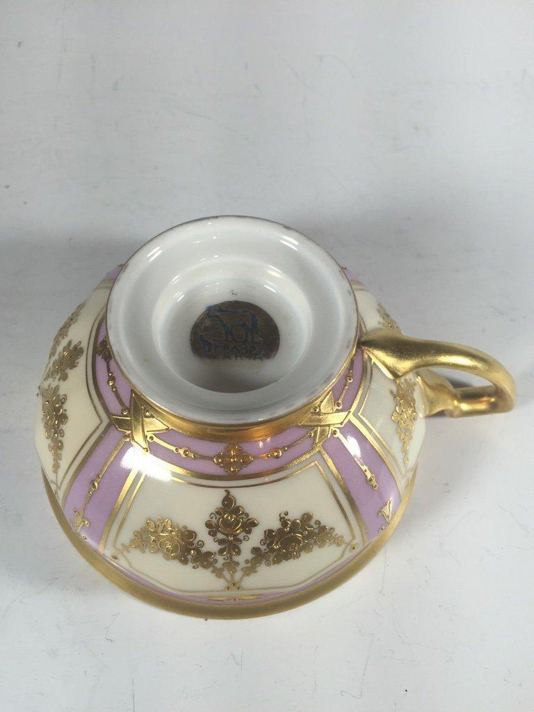 Antique German Dresden 3 porcelain set - 10