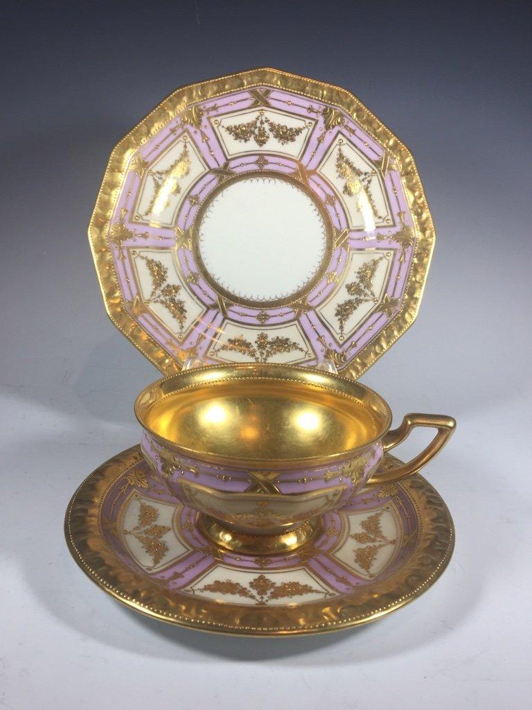 Antique German Dresden 3 porcelain set