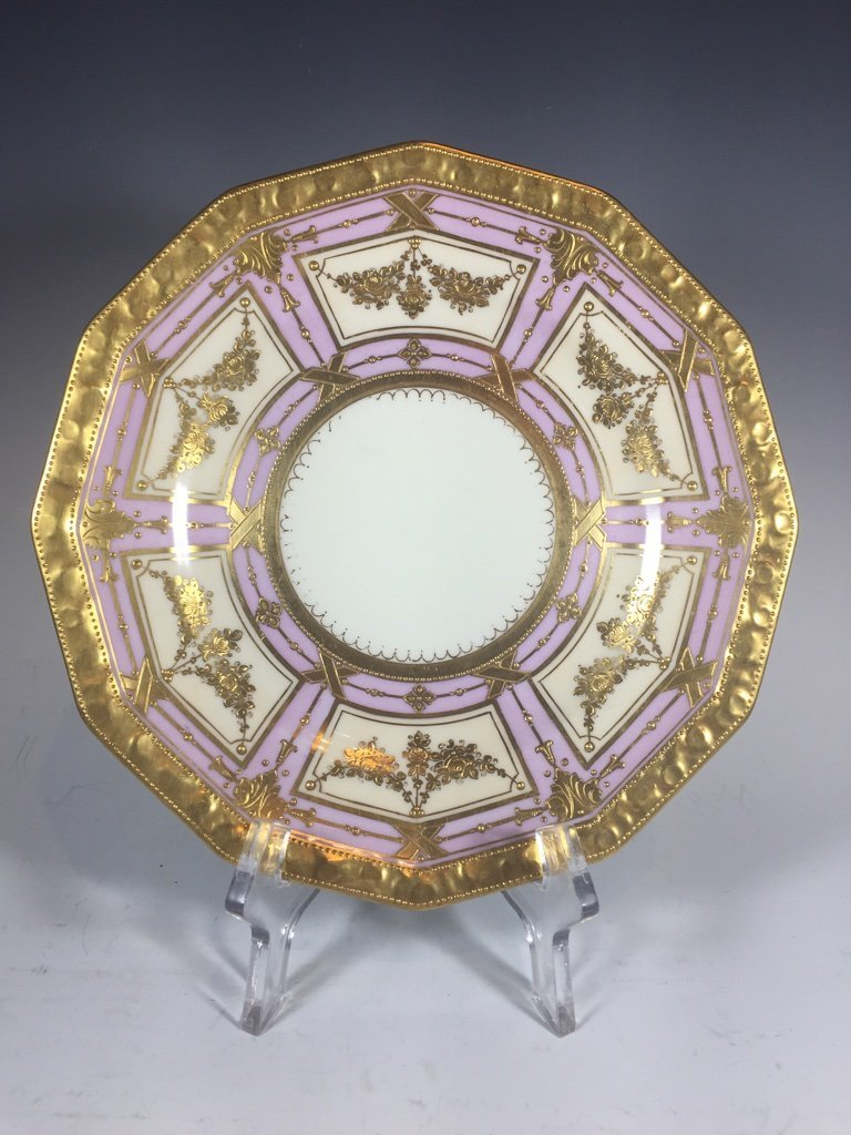 Antique German Dresden 3 porcelain set - 2