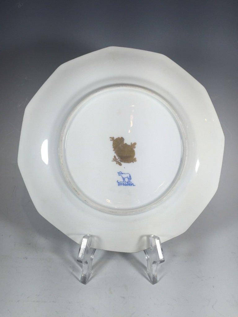 Antique German Dresden 3 porcelain set - 4