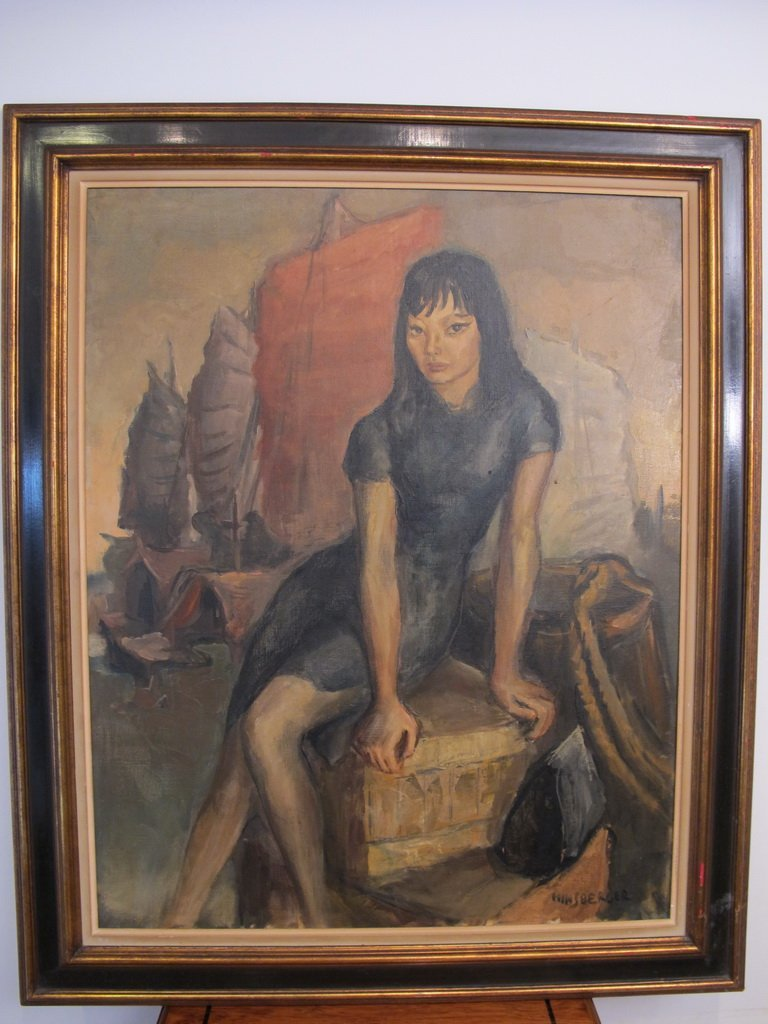 Alexis HINSBERGER (1907-1996) oil on canvas painting