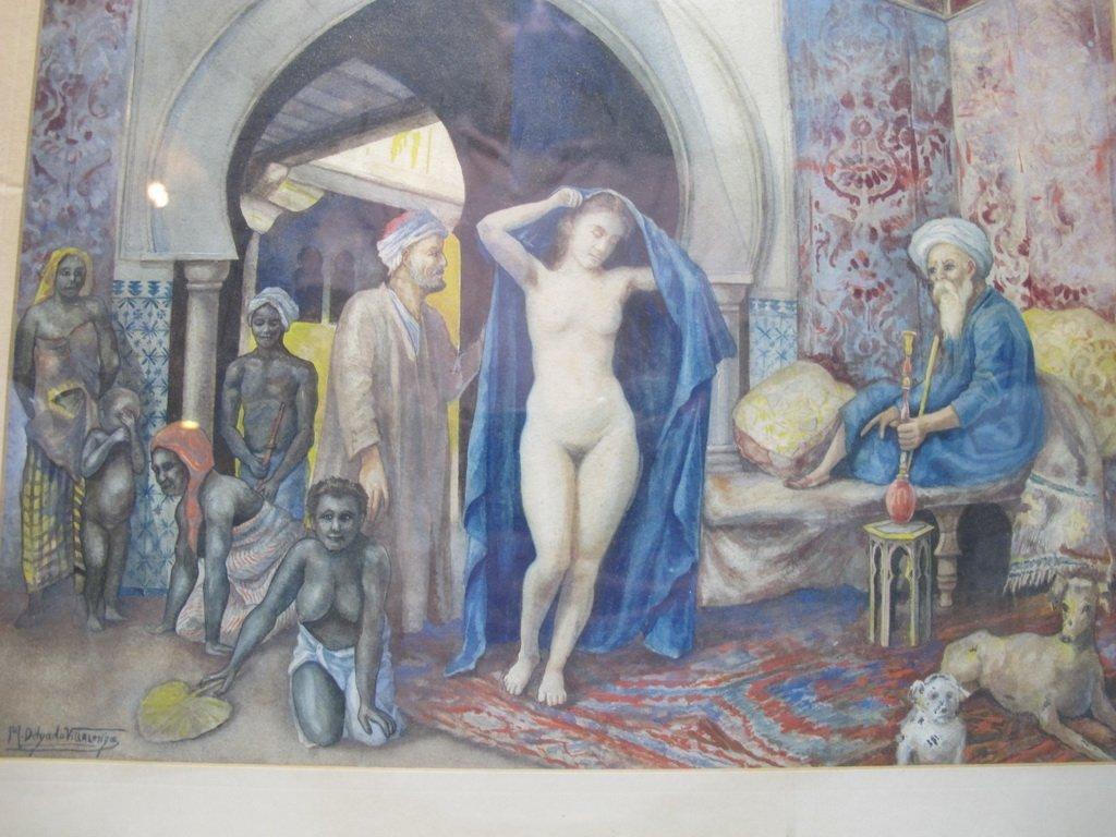 Antique Orientalist watercolor, M. Delgado VILLALONGO - 2
