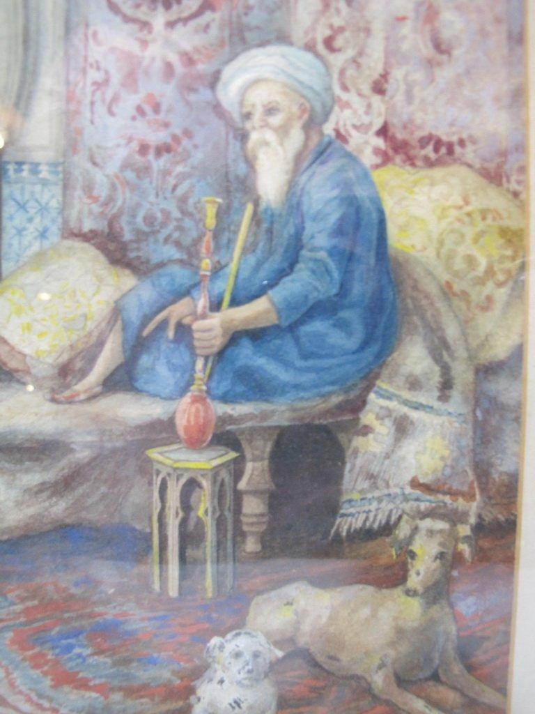 Antique Orientalist watercolor, M. Delgado VILLALONGO - 5