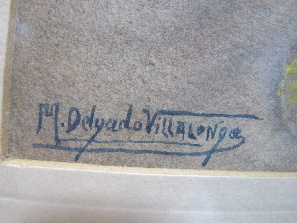 Antique Orientalist watercolor, M. Delgado VILLALONGO - 6