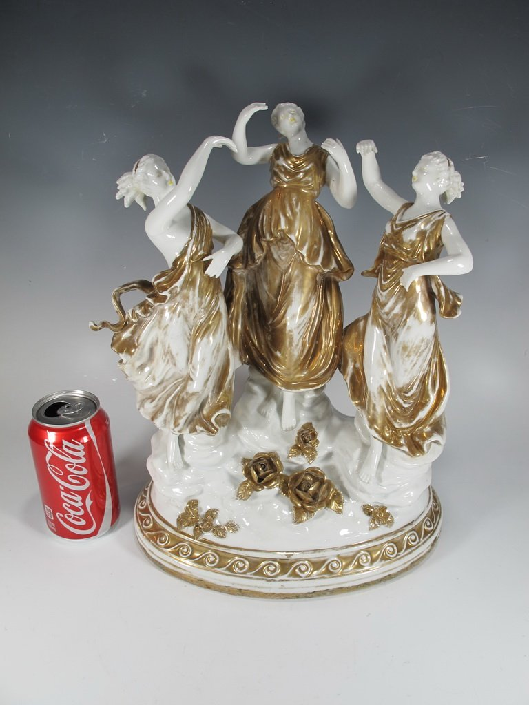 Probably German porcelain group statue