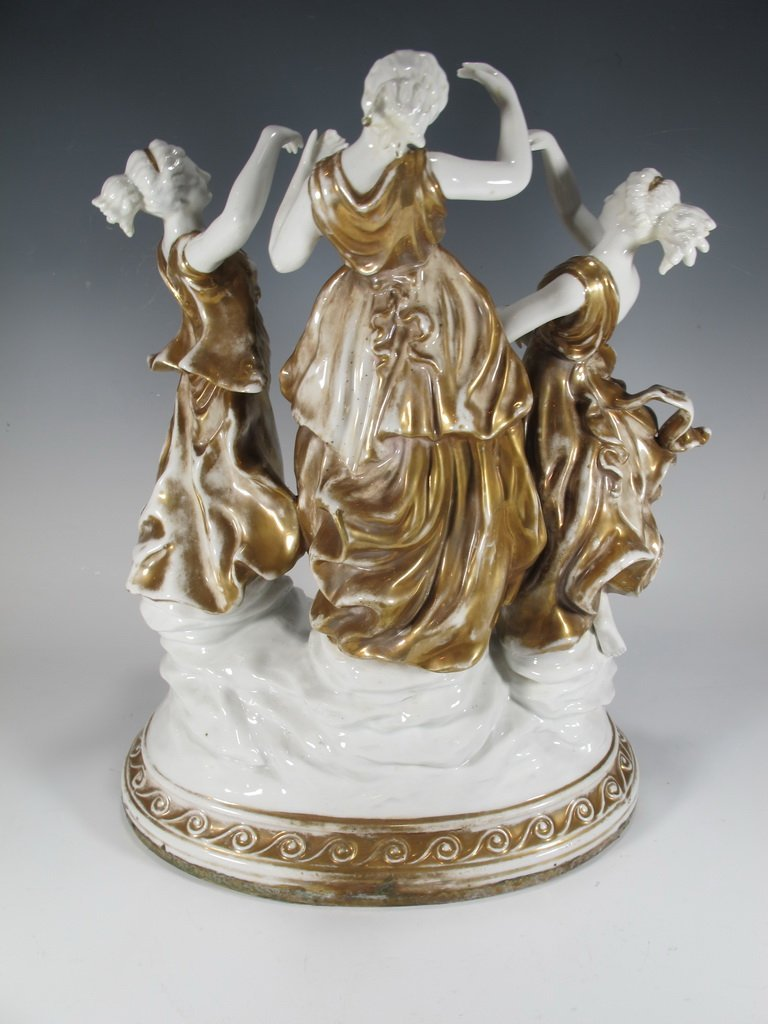 Probably German porcelain group statue - 4