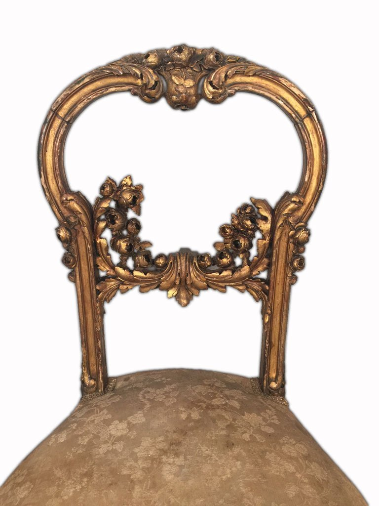 Pair of French Louis XV Gilt Chairs - 3