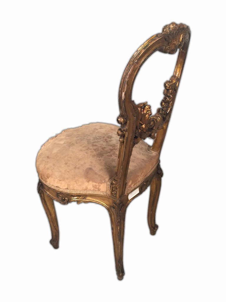 Pair of French Louis XV Gilt Chairs - 5