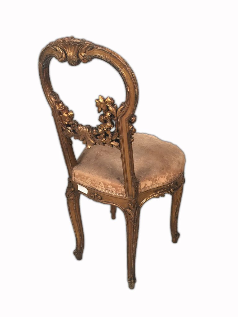 Pair of French Louis XV Gilt Chairs - 6