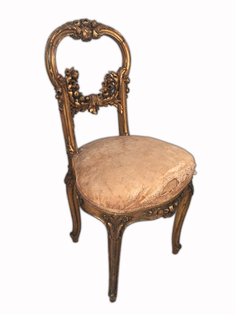 Pair of French Louis XV Gilt Chairs - 7