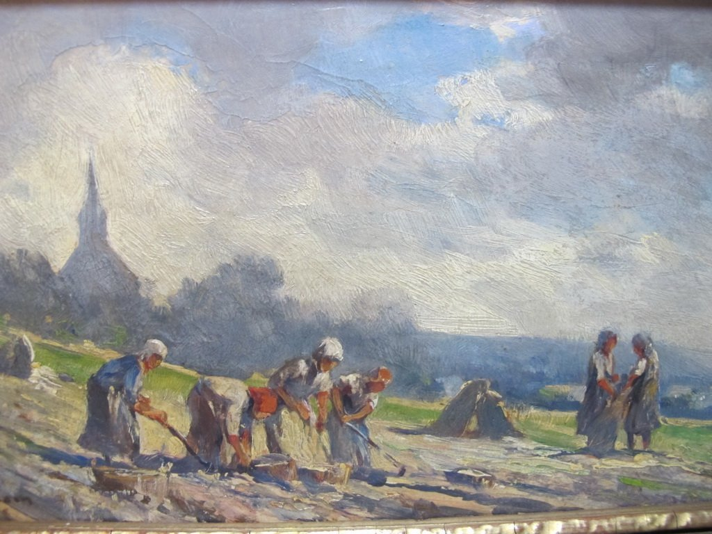 Late 19th C European oil on board painting - 2