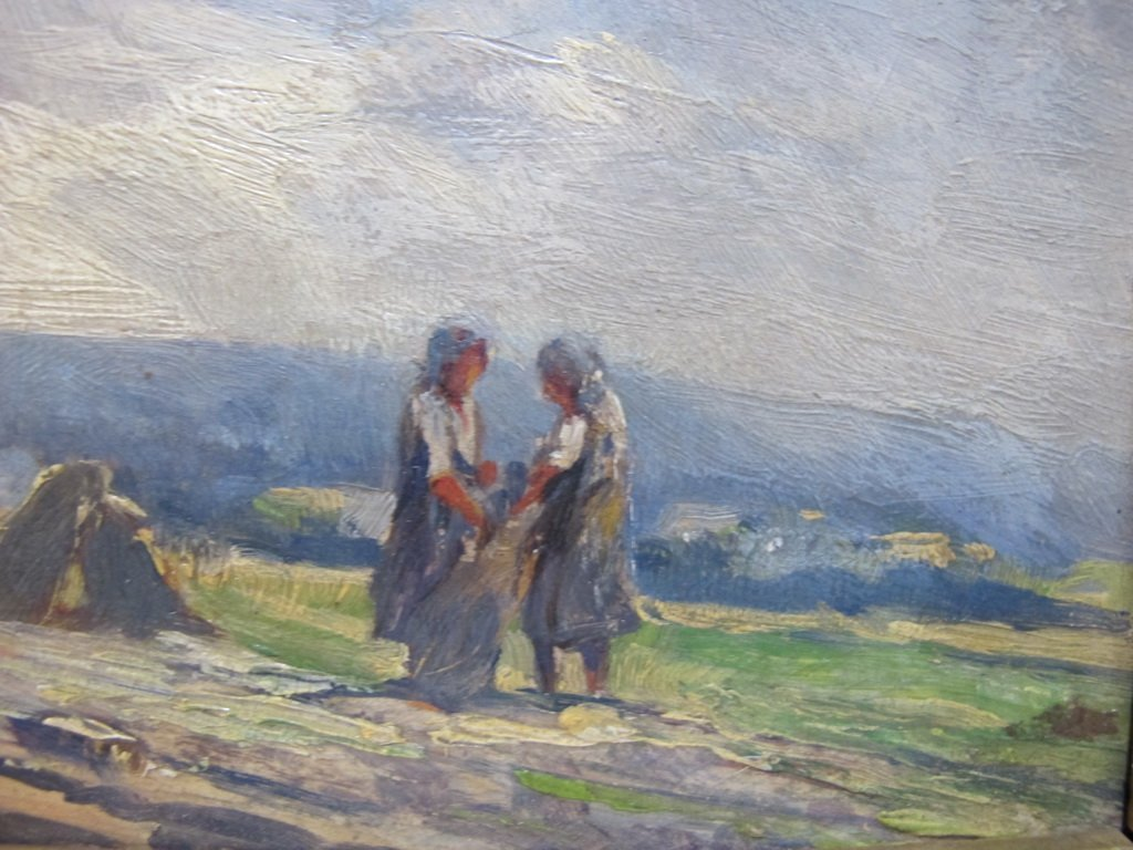 Late 19th C European oil on board painting - 3
