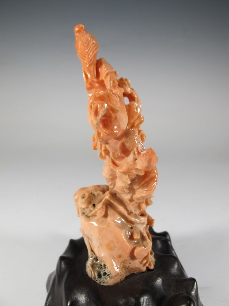 Antique Chinese carved coral sculpture - 6