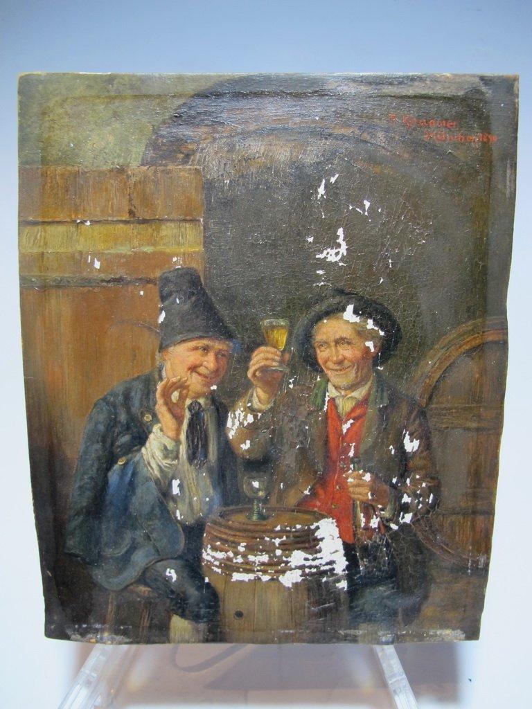 Peter I KRAEMER (1823-1907) oil on copper