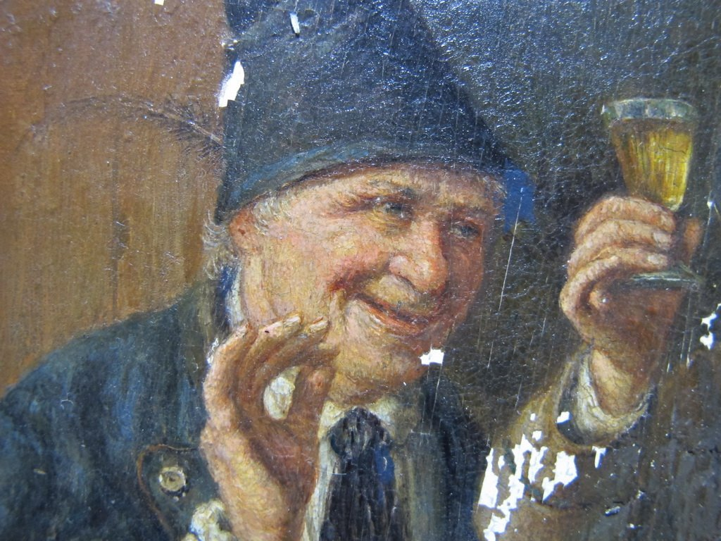 Peter I KRAEMER (1823-1907) oil on copper - 4
