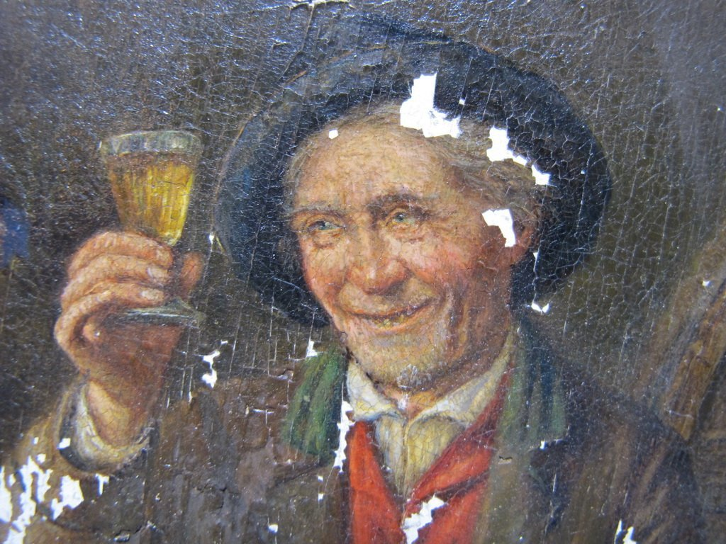 Peter I KRAEMER (1823-1907) oil on copper - 5