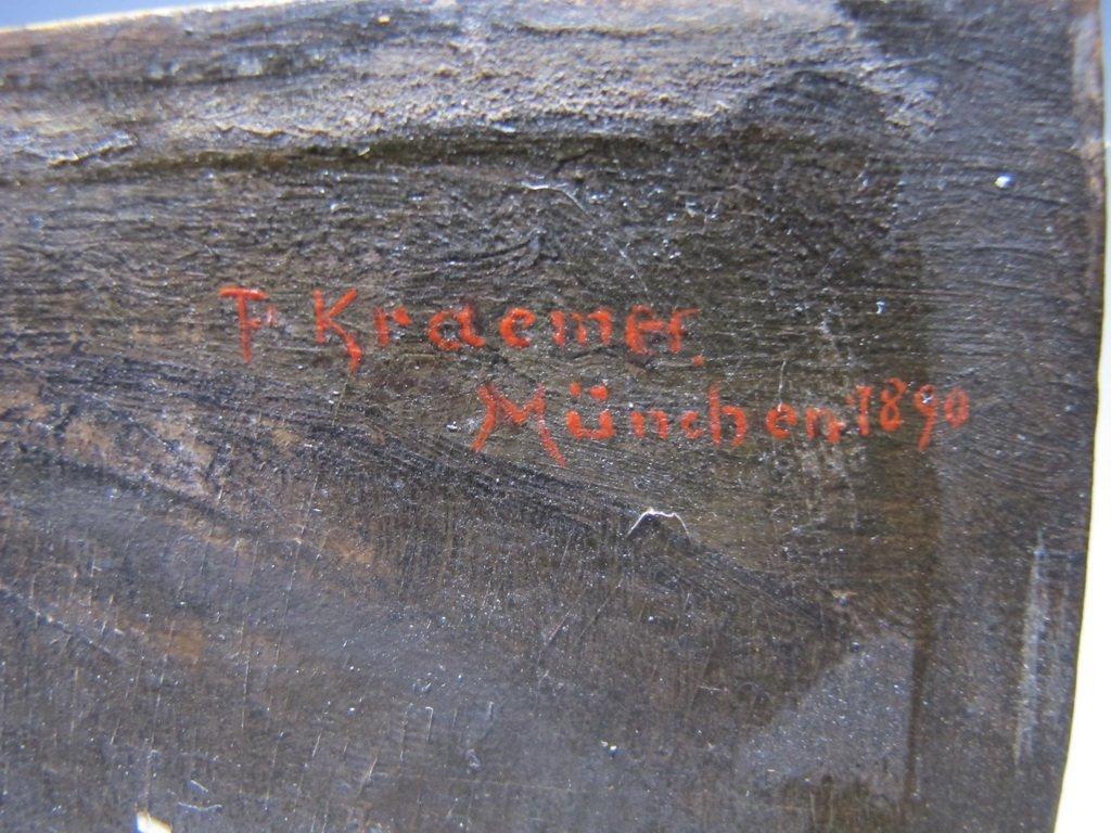Peter I KRAEMER (1823-1907) oil on copper - 6