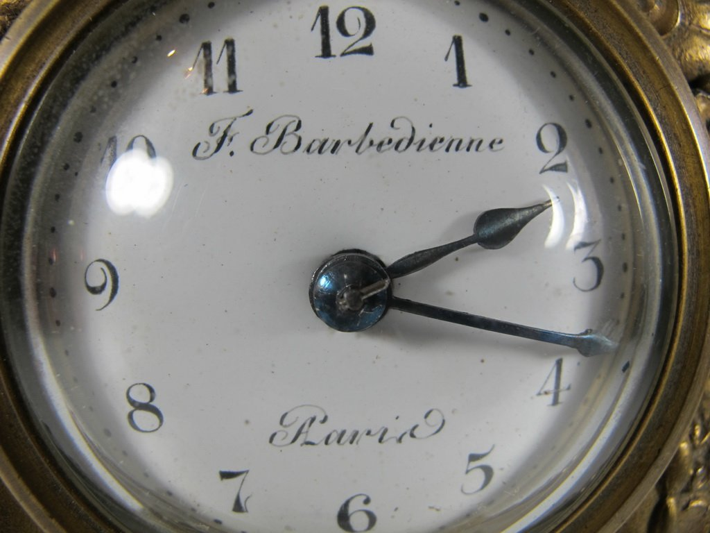 Antique French Barbedienne bronze clock - 2