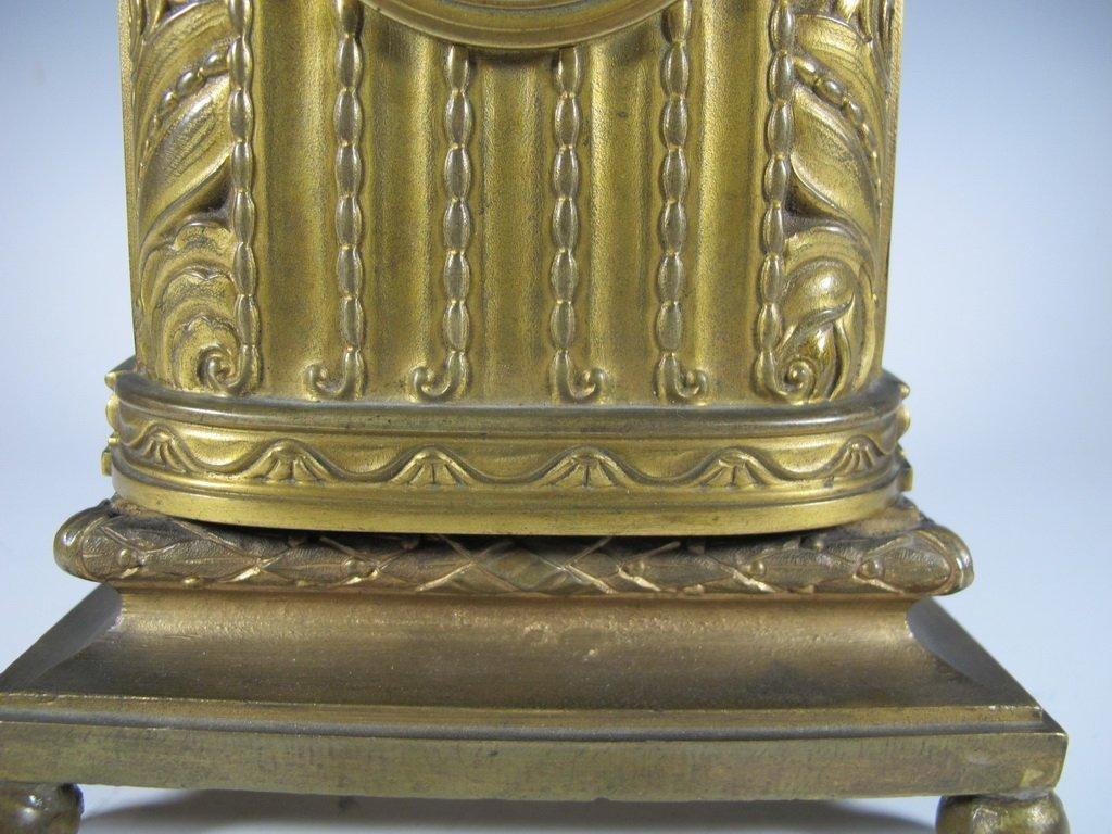 Antique French Barbedienne bronze clock - 3