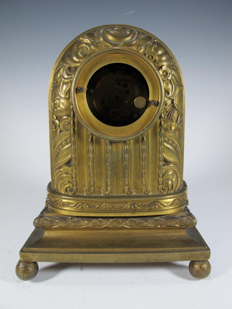 Antique French Barbedienne bronze clock - 6