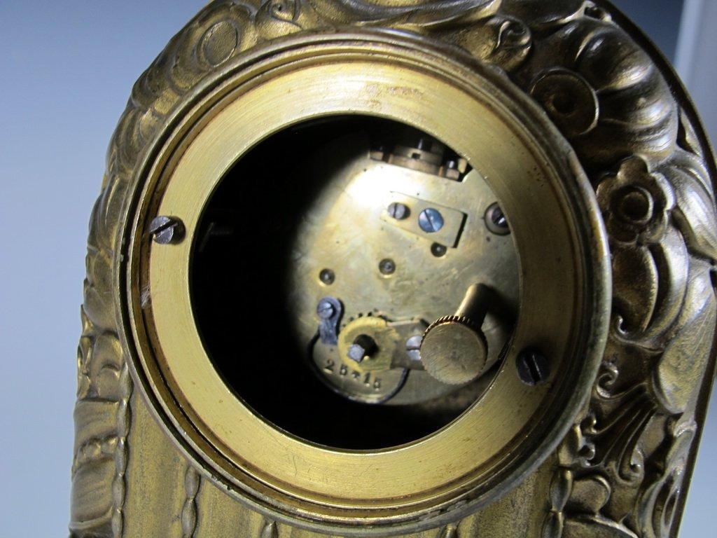 Antique French Barbedienne bronze clock - 7