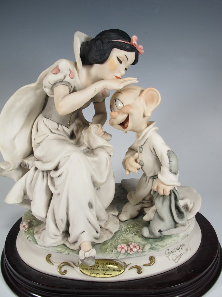 Snow White & Dopey, Giuseppe Armani 2000 Disney DAMAGED - 2