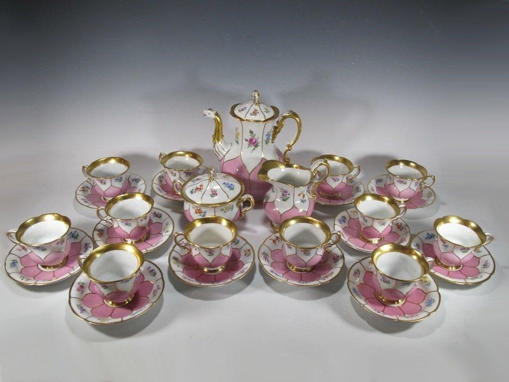 German Meissen set of 27 porcelain pieces