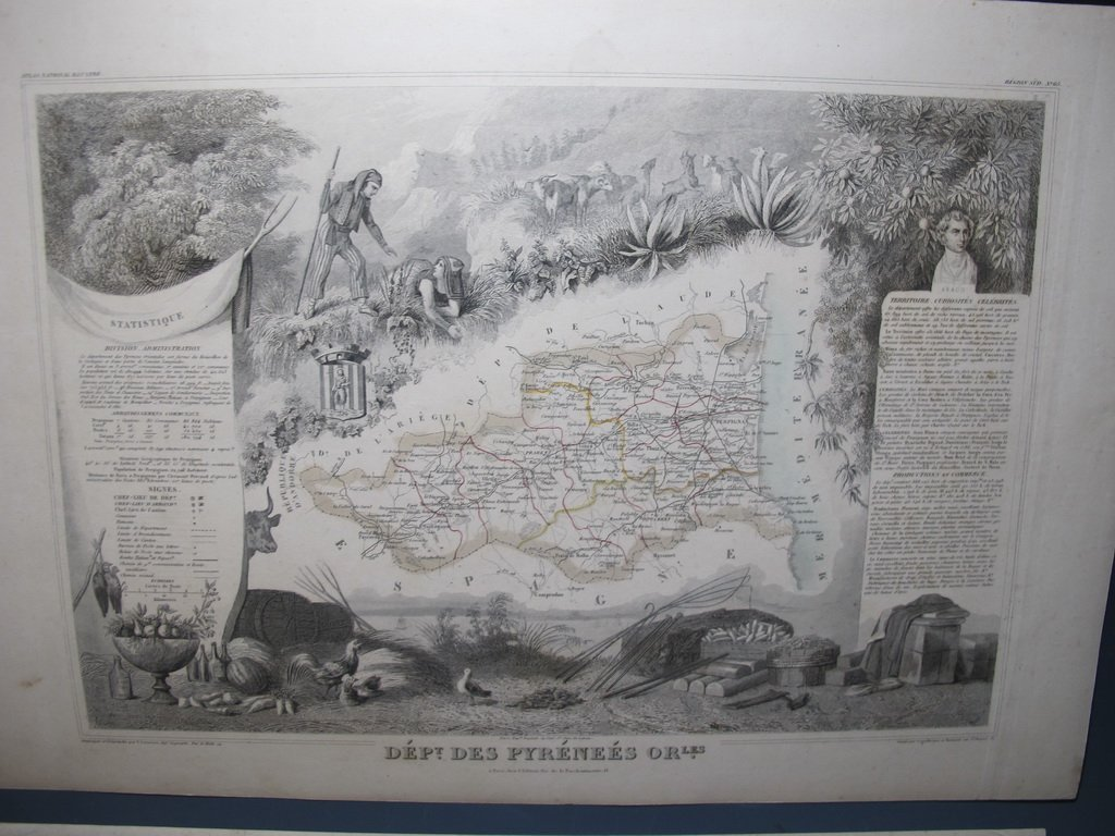 19th C French set of 3 engraving maps - 2