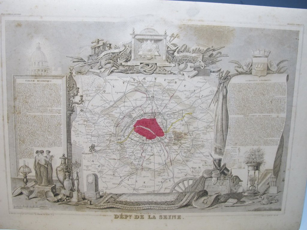 19th C French set of 3 engraving maps - 4