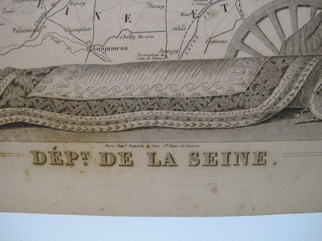 19th C French set of 3 engraving maps - 5