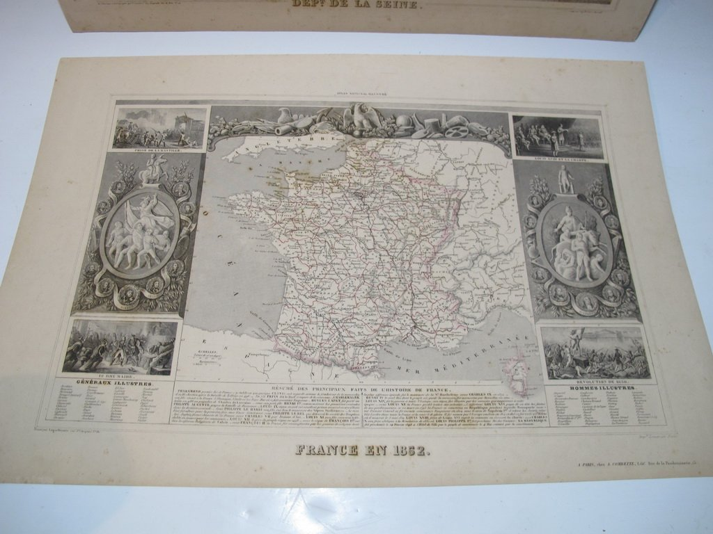 19th C French set of 3 engraving maps - 6