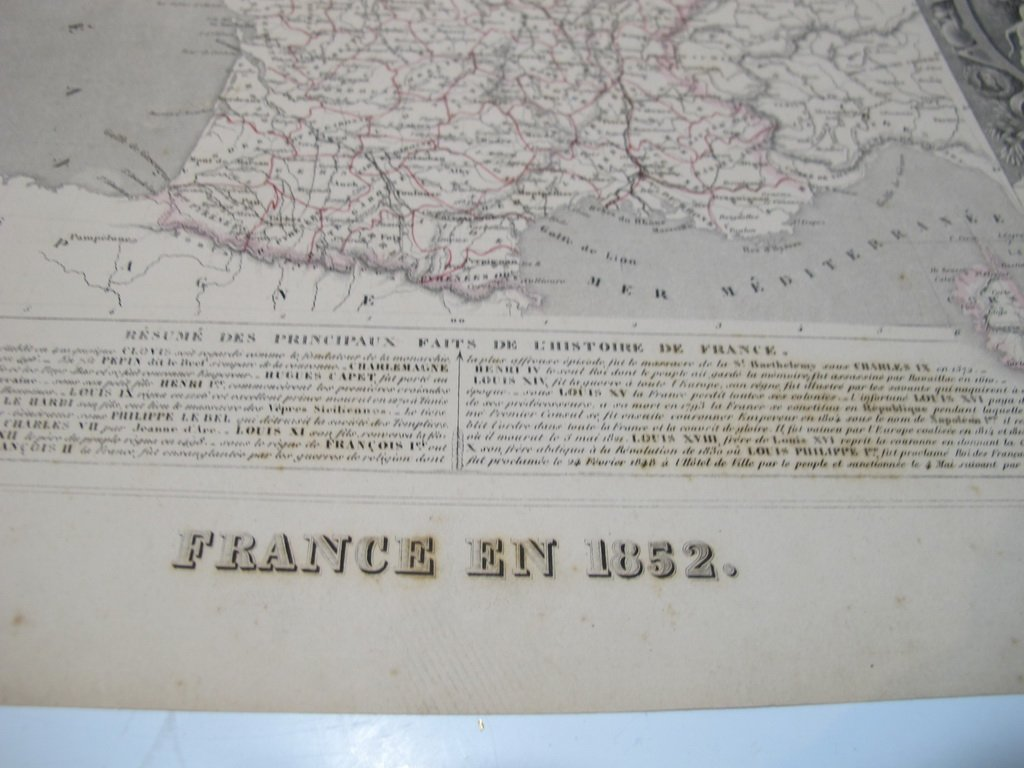 19th C French set of 3 engraving maps - 7