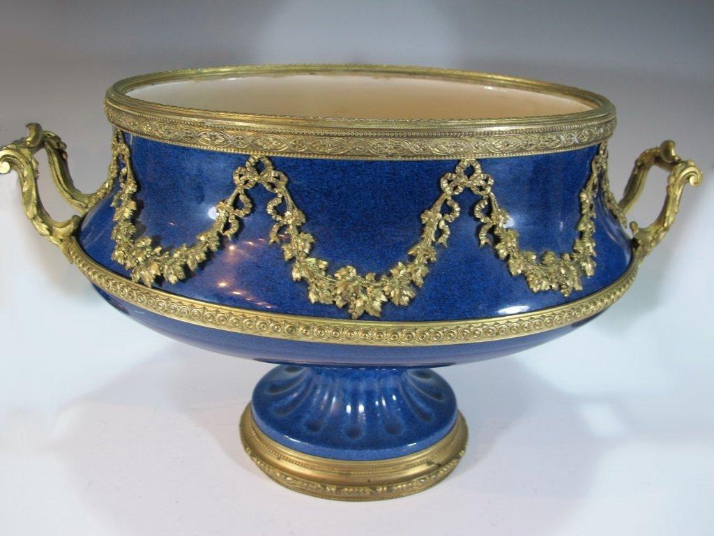 Paul Milet Sevres gilt bronze & porcelain garniture - 2