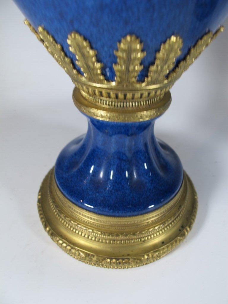Paul Milet Sevres gilt bronze & porcelain garniture - 8