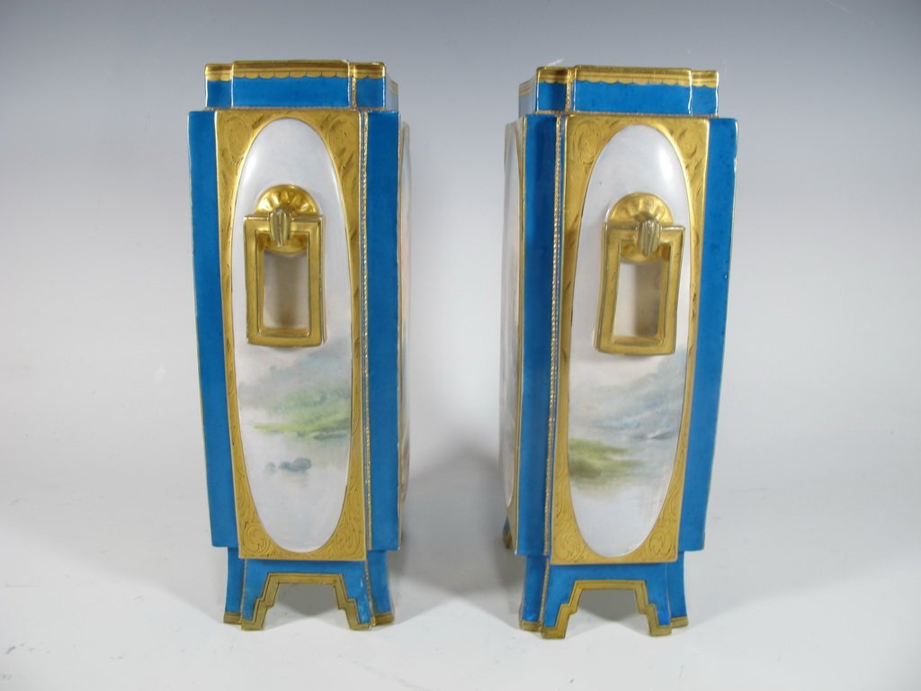 Antique Sevres quality pair of French porcelain vases - 4