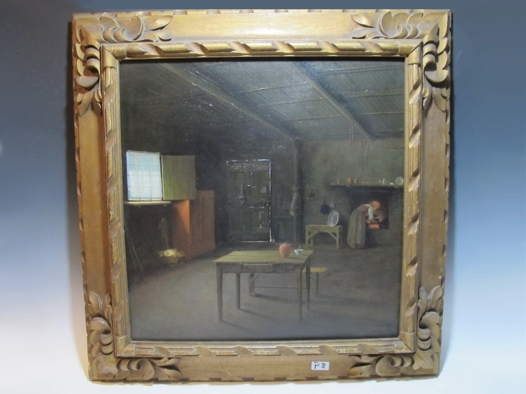 Antique probably Italian oil on canvas painting,