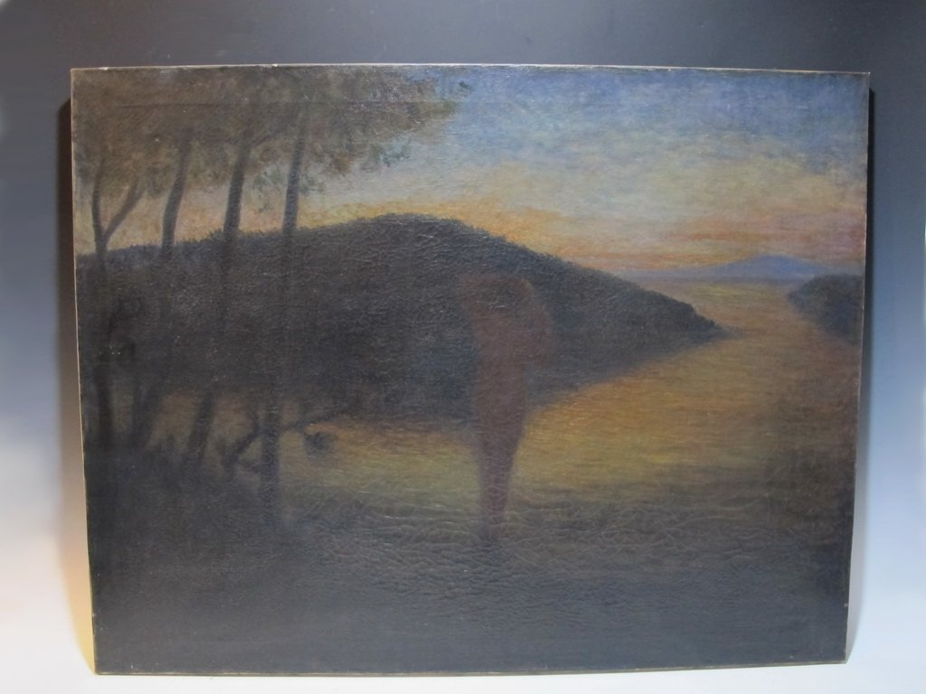 Antique German oil on canvas painting, circa 1900