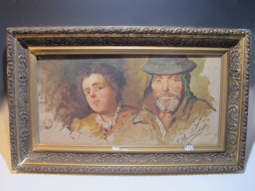 Antique Italian painting, signed F. MASSUCCHELLI